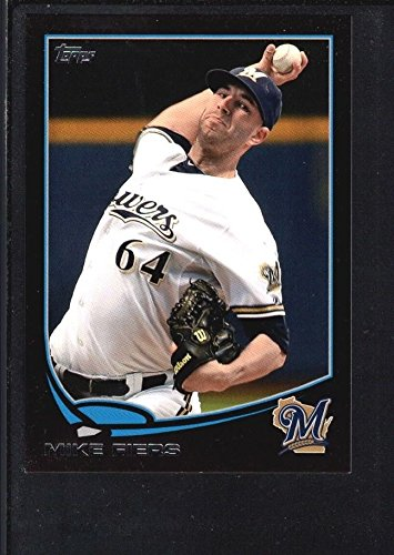 MIKE FIERS 2013 TOPPS MINI #398 BLACK PARALLEL BREWERS SP #4/5