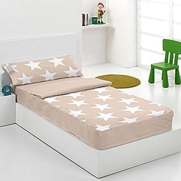 Saco nordico con relleno Star Beige para cama de 90 cm: Amazon.es: Hogar