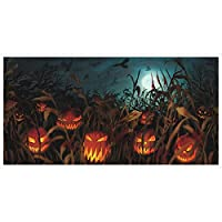 "Field of Screams Halloween Party Spooky Pumpkin Patch Horizontal Banner Decoration, Plastic, 65"" x 33"""