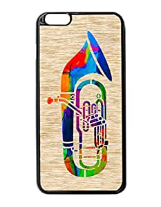 Tuba Pattern Hard Durable Cover Case for Apple iPhone 6 Plus 5.5-Inches