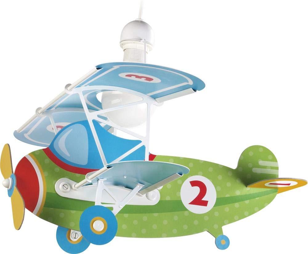 Azul Dalber Baby L/ámpara Infantil de techo Plane Avi/ón