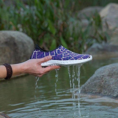 Aqua Water Schuhe Herren Leichte Wanderschuhe für Frauen Lila