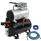 F2C TC-20T 1/5HP Pro Air Compressor Airbrush Kits W/6FT Hose and 3L Tank