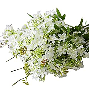 dezirZJjx Artificial Flowers 1Pc Simulation Tuberose Flower Artificial Plant Wedding Party Bouquet Home Decor - White 5