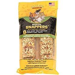 Sunseed Company 36051 Papaya Coconut Vita Prima Snappers For Hamsters/Rats/Gerbils, 2 Oz