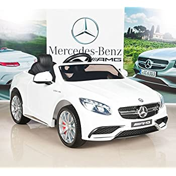 Mercedes Power Wheels >> Big Toys Direct Mercedes Benz S63 Ride On Car Kids Rc Car Remote Control Electric Powered Wheels W Radio Mp3 White