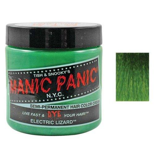 Green Dye Hair Bright - Manic Panic Semi-Permanent Color Cream, Electric Lizard