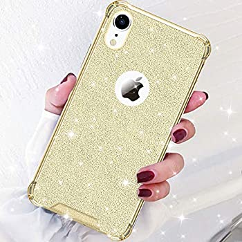 on sale a1d68 03cf8 DAUPIN Compatible for iPhone XR Phone Case Protective Defender Thin Slim  Cases Clear Bling Glitter Shockproof Cover for Women Girls for iPhone XR  6.1 ...