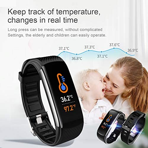 UMO Intelligent Bracelet, Multifunctional Temperature Measuring, Fever Detection Waterproof Smart Watch, Smartband, Heart Rate, Pedometer, Activity & Fitness Trackers 6