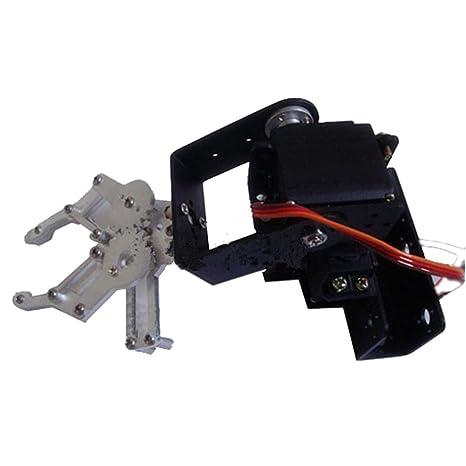 FLAMEER Kit de Construcción de Brazo Robótico Starter Soporte Garra Mecánico 3 DOF Modelo Arm Service