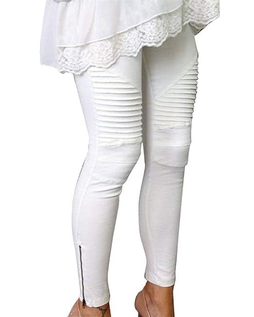 Pantalones Vaqueros De Las Mujeres Pantalones Largos Pitillo ...