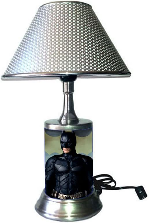 Batman Lamp with Silver Colored Shade