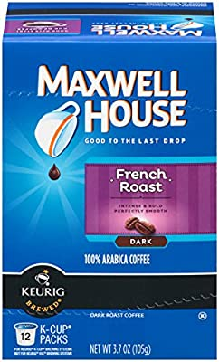 Maxwell House French Roast K-Cup Packs,(Pack of 6)