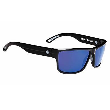 4602901db1596 Spy Rocky Sunglasses Black with Happy Bronze Blue Spectra Polar Lens