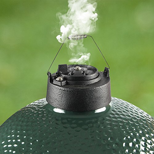 Dracarys Cast Iron Grill Chimney top Daisy Wheel for Large Medium Big Green Egg Accessories Metal Top and Grill top Vent Damper Chimney Cap Big Green Egg Replacement Parts