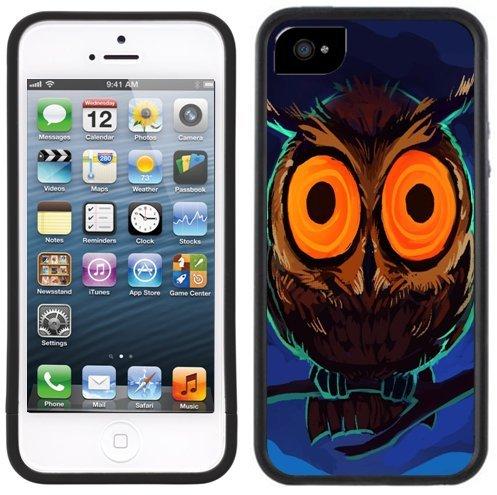 Eule   Handgefertigt   iPhone 5 5s   Schwarze Hülle