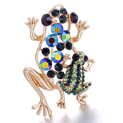 Diamond Frog Pin (Winwest Frog Brooch Diamond Corsage Clothes Accessories)