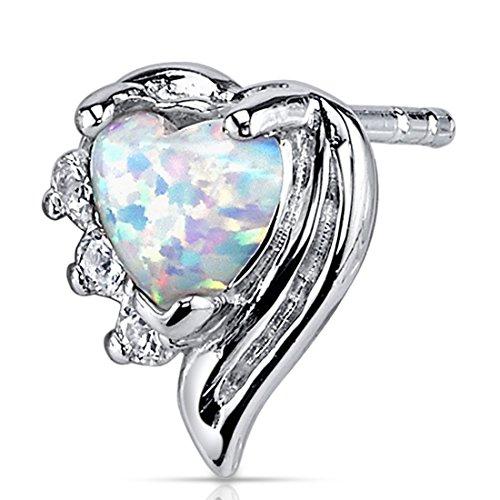 Buy opal heart earrings