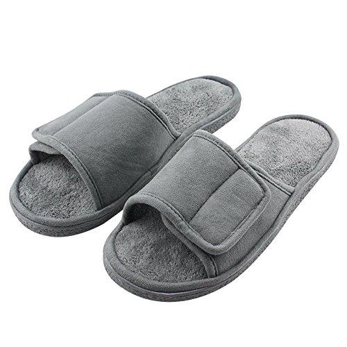 3df15dd3b91919 Mua sản phẩm Magtoe Men Velcro Indoor Slippers Faux Suede Adjustable ...