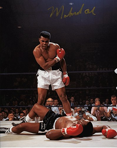 Muhammad Ali Standing Over Liston Signed Autographed 8x10 Photo Certified Authentic COA