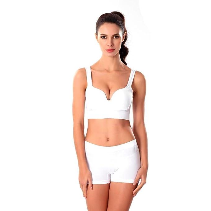 VENMO Sujetador Deportes, Respirable sin Sujetador de Anillo de Acero Yoga Camisetas Tirantes Estilo Chica: Amazon.es: Ropa y accesorios