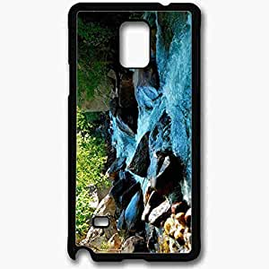 Unique Design Fashion Protective Back Cover For Samsung Galaxy Note 4 Case Computer Backgrounds Nature Black