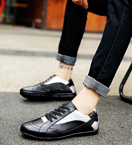 Tendencia 47 Zapatos Tamaño Negro de Ocasionales Hombres Respirables Color de de Nuevo la Zapatos Zapatos Negocios para Moda Vestir wx1IRH