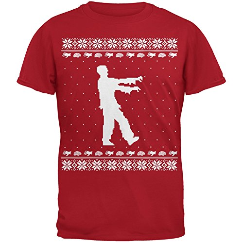 Big Zombie Ugly Christmas T-Shirt Youth
