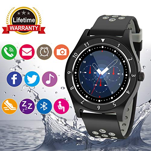 - Bluetooth Smart Watch with Camera Touchscreen,Waterproof Smartwatch Unlocked Phone Watchs with SIM Card Slot, Smart Wrist Watch Compatible with Android iPhone X 8 7 6 5 Plus iOS Samsung
