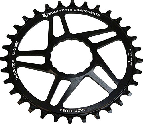 Wolf Tooth Direct-Mount Drop-Stop Chainring for RaceFace, SRAM, S-Works, and Cannondale Cranks (36t, RaceFace Cinch)
