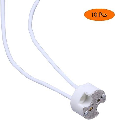 Lamp Holder Fitting Base 100 MR16 GU5.3 Ceramic Socket LED Light Bulb Halogen