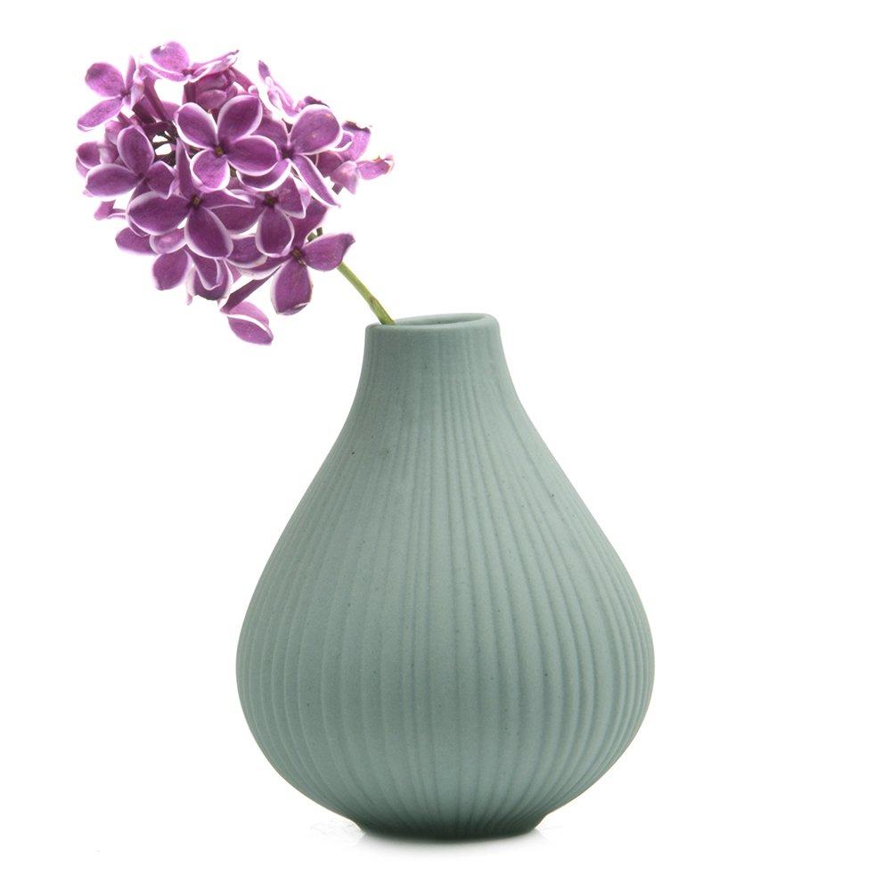 3.5 diameter Argilla /Set di 6/Maxi Chive gelo rotondo argilla vaso decorativo Light Grey vaso per arredamento soggiorno ufficio e persone/
