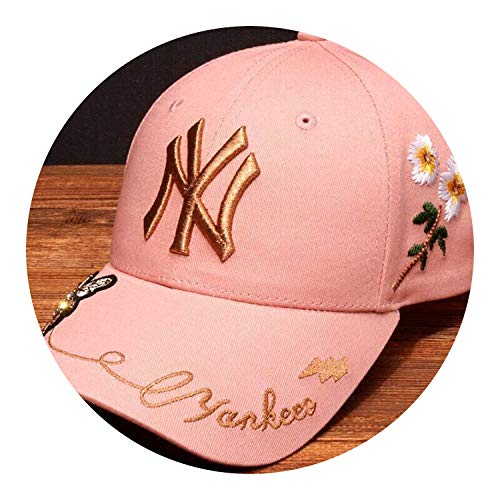 蜂の野球帽 黄色のラベルヤンキース帽子 カップル 春と夏 スポーツキャップ