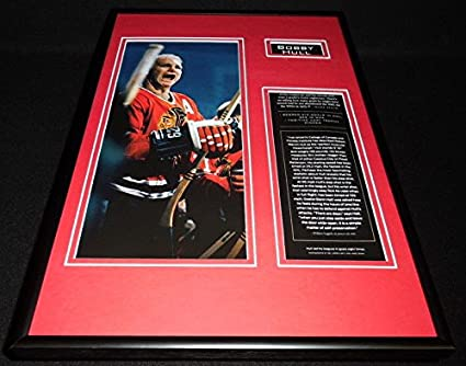 d3b764ae224 Image Unavailable. Image not available for. Color  Bobby Hull Framed 12x18  Photo Display Chicago Blackhawks