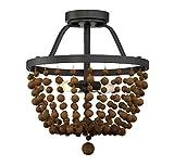 Trade Winds Lighting TW022068ORB Beads 2-Light Semi-Flush in Oil Rubbed Bronze