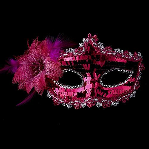Masquerade Show Nightclub Women Fancy Face Mask Flower Mask Venice Mask Halloween Cosplay Costume