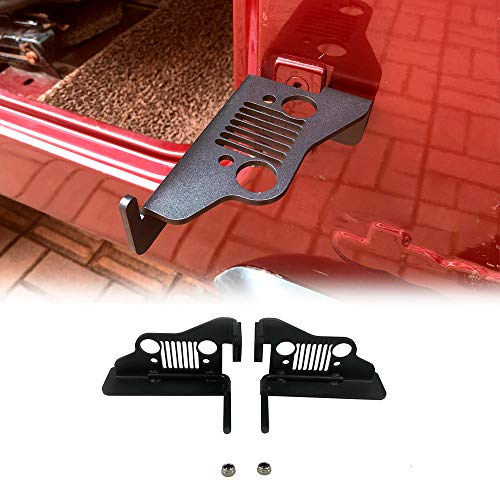 Jeep Wrangler TJ Steel Foot Pegs, Exterior Door Hinge Foot Rest Peg Pedal for 1996-2006 Jeep Wrangler TJ Accessories - 1 Pair ()