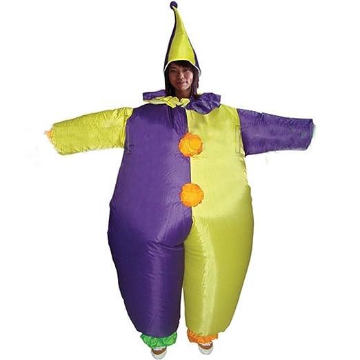 Inflatable Clown Fancy Dress Costume Fat Suit Party Outfit Props Show Doll  sc 1 st  Amazon.com & Amazon.com: Inflatable Clown Fancy Dress Costume Fat Suit Party ...