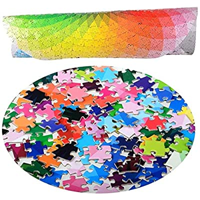 Jigsaw Puzzles for Adults and Kids, Round Rainbow Palette 1000 Piece Intellectual Game, Entertainment DIY Toys & Wall Decor: Toys & Games