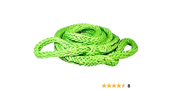 """VOODOO KINETIC RECOVERY ROPE 7//8/"""" X 30/' 38,000# RATED FREE BAG GREEN  1300002  ^"""