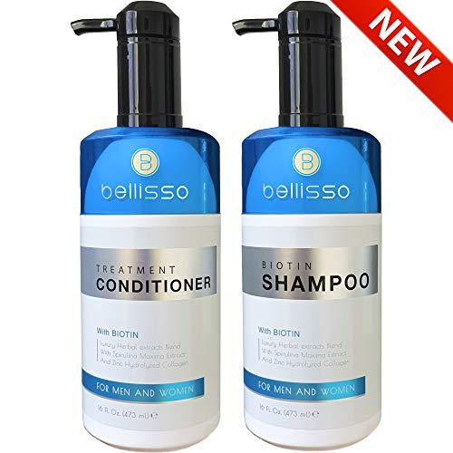 Biotin Shampoo and Conditioner for Hair Growth   Thickening Anti Hair Loss Shampoo Treatment   Regrowth Shampoo & Conditioner for Oily & Color Treated Hair