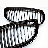 PA Pair Gloss Piano Black Front Kidney Grille for BMW E92