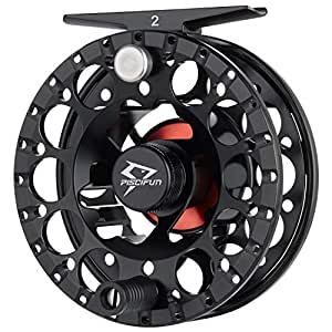 Piscifun Sword 2 Light Weight Fly Fishing Reel with CNC-machined Aluminum Alloy Body 3/4 Black