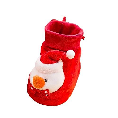 Zapatos Bebe Navidad Invierno K-youth Zapatos Felpa Botas Zapatos Primeros Pasos Bebe Niña Regalo