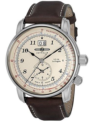ZEPPELIN watch LZ126 LosAngeles ivory dial 86445 Men's parallel import goods]