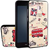 MOONCASE Huawei Enjoy 5S Case, [London Bus] 3D Embossed Painting Series Protective Case Cover for Huawei Enjoy 5S Anti-Slip Soft TPU Gel Case