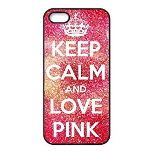 ALICASE Diy Customized Hard Case Love Pink for iPhone 5,5S [Pattern-1]