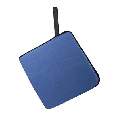 Ichiias Chair Pad Waterproof Tie On Soft Seat Cushion for Dining Garden Patio Home Office(Navy): Home & Kitchen