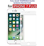 Dashmesh Shopping Full Body Glue Edge to Edge Tempered Glass Screen Protector with Free Installation Kit for Apple iPhone 7 Plus, (White)