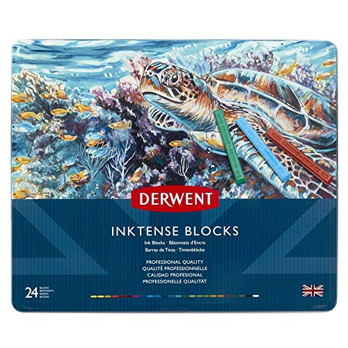 - Derwent Inktense Ink Blocks, 24 Count (2300443)